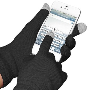 Image of Amzer Capacitive Touch Screen Knit Gloves - Black