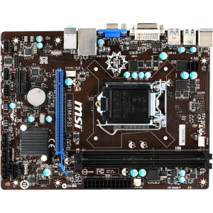 MSI H81M-P33 Micro ATX Desktop Motherboard w/ Intel H81 Chipset & Socket H3