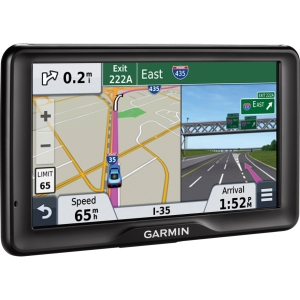 Garmin 2757LM Automobile Portable GPS Navigator - 7 - Touchscreen - Speaker - microSD Card - Voice Prompt, Text-to-Speech, Lane Assist, Junction View - USB - 1 Hour - Lifetime Map Updates - 800 x 480