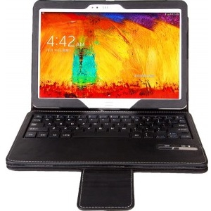 Next Success Keyboard/Cover Case for 10.1 Tablet - Black - Synthetic Leather