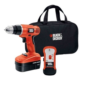 Black & Decker 18V Cordless Drill with Stud Sensor and Storage Bag -Driver Drill