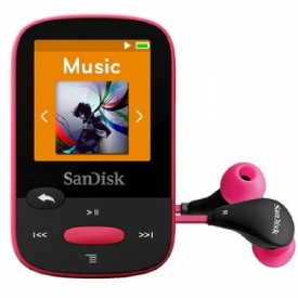SanDisk Clip Sport 8GB MP3 Player (Pink)
