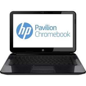 HP Chromebook 14 14 LED Notebook - Intel Celeron 2955U 1.40 GHz - Black, Silver - 4 GB RAM - 16 GB SSD - Intel HD Graphics - HSPA+, HSPA, LTE - Chrome OS 32-bit - 1366 x 768 Display - Bluetooth