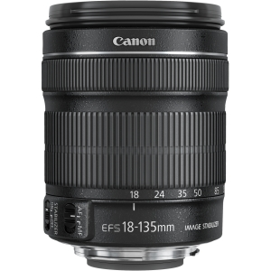 Canon 18 mm - 135 mm f/3.5 - 5.6 Zoom Lens for Canon EF/EF-S - 67 mm Attachment - 0.28x Magnification - 7.5x Optical Zoom - Optical IS - STM