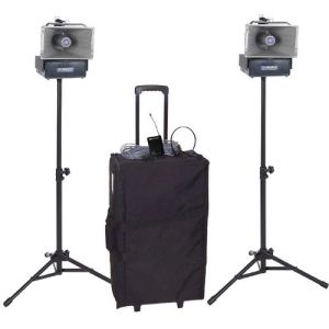 Image of AmpliVox Deluxe Wireless Speaker Half-Mile Hailer Kit