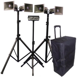 Image of AmpliVox Deluxe Wireless Quad Horn Half-Mile Hailer Kit