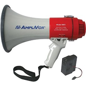 Amplivox SB601R Mity-Meg Megaphone with Rechargeable Battery Pack