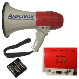 Amplivox SB602R Mity-Meg 25W Rechargeable Megaphone w/ Rechargeable Battery Pack