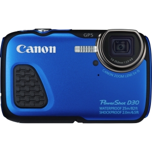 Canon PowerShot D30 12.1 MP Waterproof Compact Digital Camera - Blue