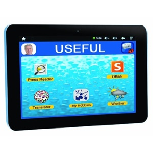 Lexibook Tablet Serenity for Seniors - Extra Large Icons - Quick App Link - 12,000 Apps - Multimedia - Skype- 15 Languages App