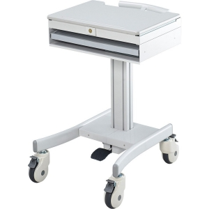 Image of Atdec All-Purpose Notebook Cart, Light Gray, Off-White