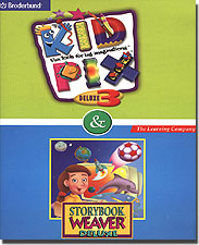 Kid Pix Deluxe 3 &amp; Storybook Weaver Deluxe