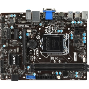 Buy Now MSI H81M-E34 Micro ATX Desktop Motherboard w/ Intel H81 Chipset & Socket H3 Before Special Offer Ends