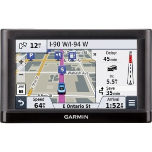Garmin nvi 55LMT Automobile Portable GPS Navigator - 5 - Speaker, TMC Traffic Receiver - microSD Card - Turn-by-turn Navigation, Lane Assist, Junction View, Voice Prompt - USB - 2 Hour - Yes - Lifetime Map Updates - Lifetime Traffic Updates - WQVGA - 48