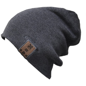Image of BE Headwear 24/7 Tall Fit Bluetooth Beanie w/ BE-Link System - Charcoal