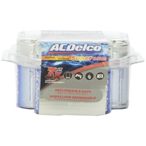 ACDelco Super Alkaline Size D Battery (8 Pack)