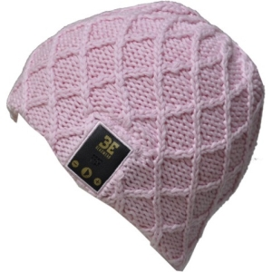 Image of BE Headwear Luvspun Bluetooth Beanie - Cotton Candy Pink