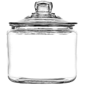Image of 3Qt Heritage Hill jar. Clear 69832T