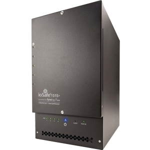 ioSafe 1515+ NAS Server with 20TB (5x4TB) WD Red Hard Drives - 1 Year DRS Basic