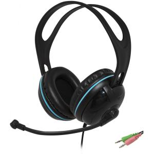 Image of Andrea Edu-455 Circumaural (Over-the-Ear) Stereo Headset, Black