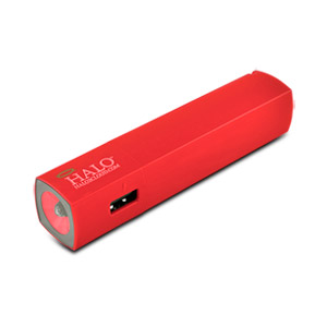 Halo Pocket Power Starlight 3000mAh Power Bank with Flash Light, Orange