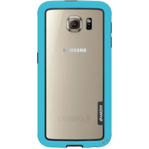 Image of Amzer Border Case - Blue for Samsung Galaxy S6 SM-G920F