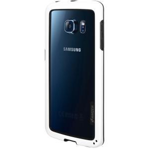 Image of Amzer Border Case Hybrid Bumper Protector for Samsung Galaxy S6 edge - White