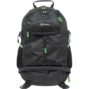 Manhattan Trekpack Heavy-Duty Top-Loading Backpack for 17 Laptops, Black/Green