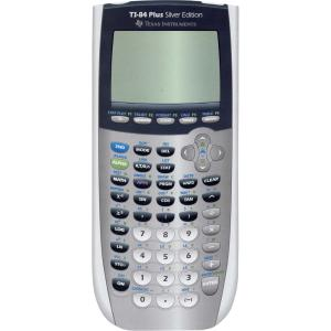 Texas Instruments TI-84 Plus C Silver Ed. Graphing Calculator, Color Disp, Blue