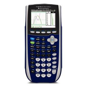 Texas Instruments TI-84 Plus C Silver Edition Graphing Calculator - Dark Blue