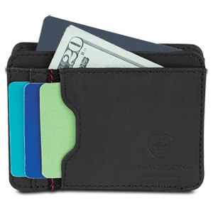 Travelon SafeID Accent Cash and Card Sleeve, Black