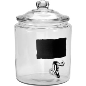 Image of Anchor Hocking 2 Gallon Dispenser with Chalkboard and Spigot