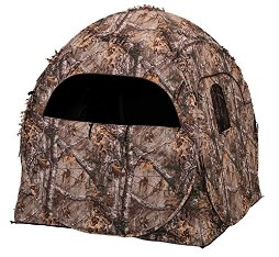 Image of Ameristep Doghouse Spring Steel Ground Hunting Blind - Realtree XTRA Camo