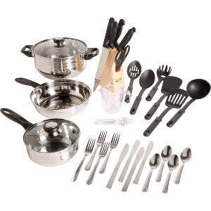 Click here for Gibson Home Total Kitchen 32 Piece Cookware Set prices