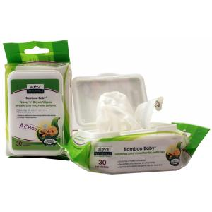 Image of Aleva Naturals Bamboo Baby Nose 'n' Blows Wipes, 360 Count (12 Packs of 30)