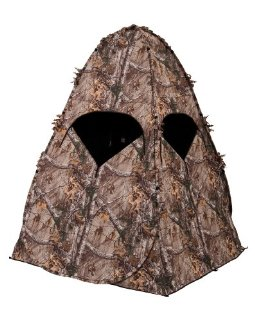 Image of Ameristep 1RX1S008 Outhouse Ground Hunting Blind - Realree XTRA Camo