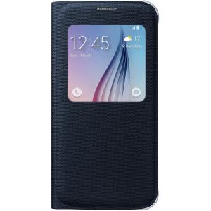 Samsung S-View Carrying Case (Flip) for Smartphone - Black Sapphire - Polyester