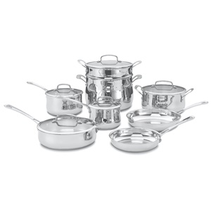 Click here for Cuisinart 44-13 Contour Stainless 13-Piece Cookwar... prices