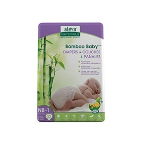 Image of Aleva Naturals Bamboo Baby Diapers, Size Nb (4-9lbs) - 32ct