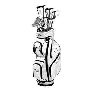 Tour Edge Women's Edge Complete Golf Club Set, Black/White
