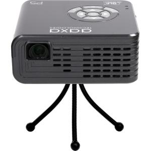 Image of AAXA P5 Gray DLP HD Portable Projector, 1280 x 720, 1000:1, 300 ANSI Lumens, HDMI&VGA&USB, Built-in Speaker