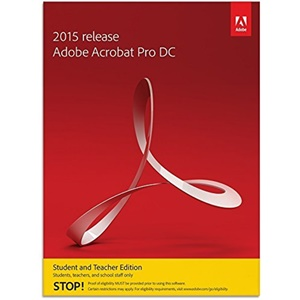 Image of Adobe Acrobat Pro DC 2015 for Mac (Student and Teacher Edition)