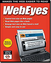 Image of WebEyes 2.2 - Makes the Web Easier to Read