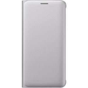 Samsung Carrying Case (Wallet) for Smartphone - Silver - Polyurethane Leather