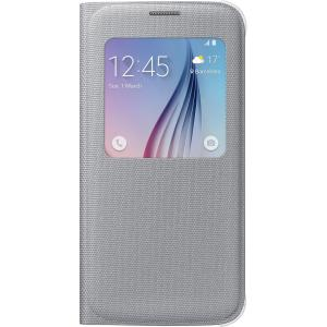 Samsung S-View Carrying Case (Flip) for Smartphone - Silver - Polyester