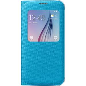 Samsung S-View Carrying Case (Flip) for Smartphone - Blue - Polyurethane Leather