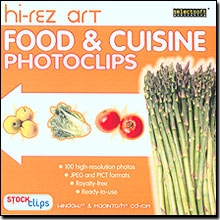 Hi-Rez Art: Food & Cuisine PhotoClips