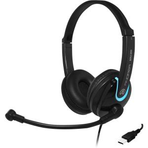 Image of Andrea Communications EDU-255 USB On-Ear Stereo Headset - Black
