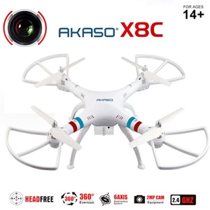 Image of Akaso X8C 2.4GHz 4.5CH 6 Axis Gyro RC Quadcopter with HD Camera