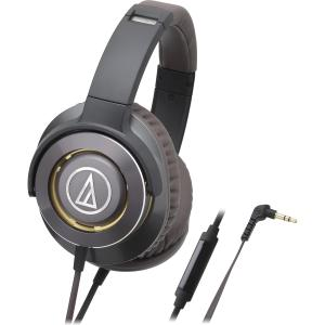 Image of Audio-Technica ATH-WS770iS Solid Bass Over-Ear Headphones w/ Mic, Gun Metal